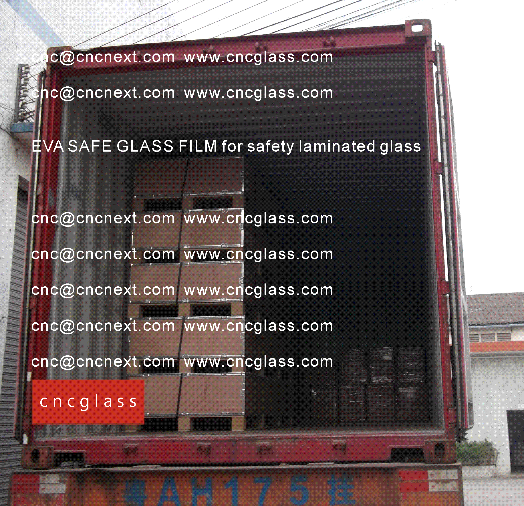 001 EVA SAFE GLASS FILM LOADING CONTAINER (SAFETY LAMINATED GLASS)