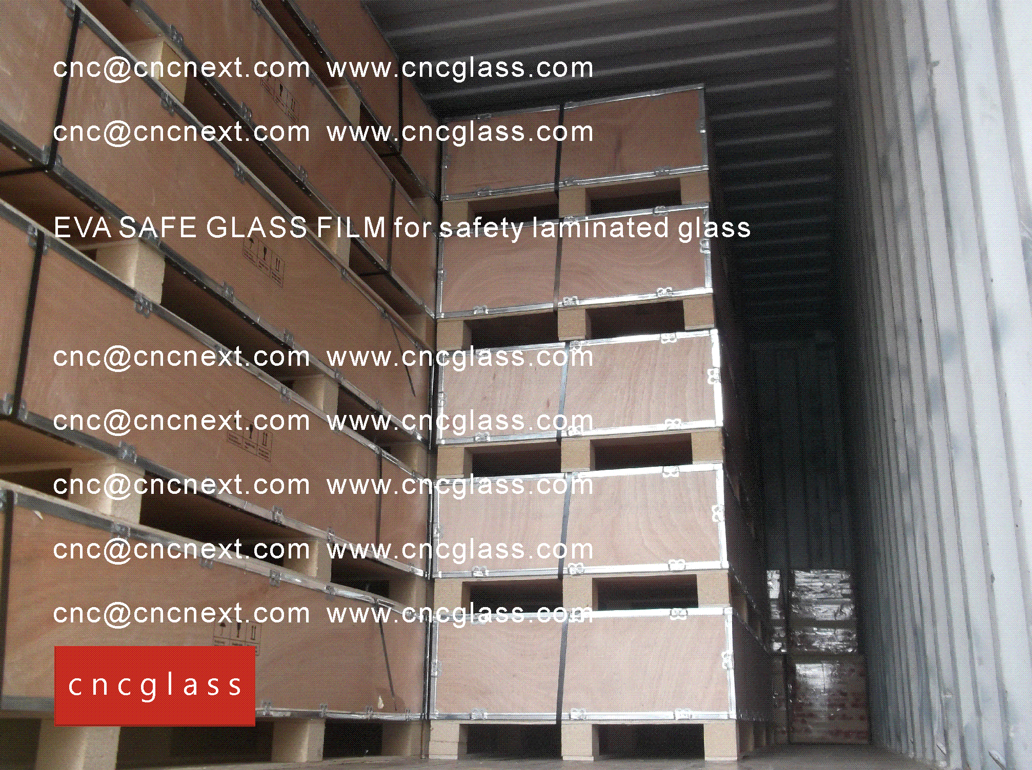 004 EVA SAFE GLASS FILM LOADING CONTAINER (SAFETY LAMINATED GLASS)