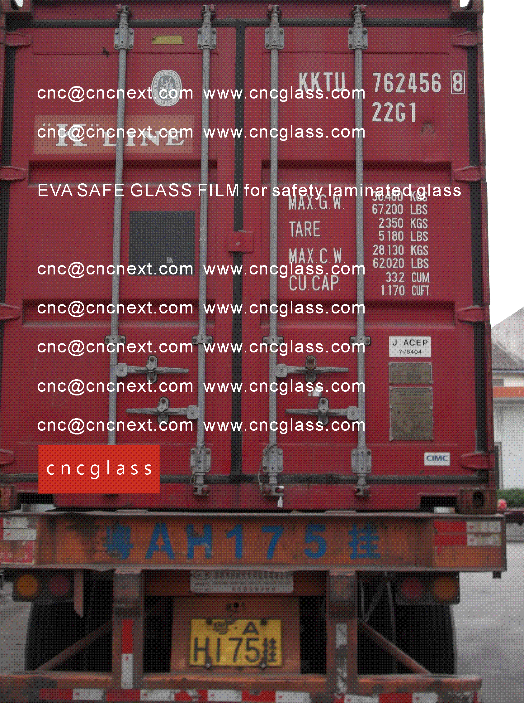 007 EVA SAFE GLASS FILM LOADING CONTAINER (SAFETY LAMINATED GLASS)