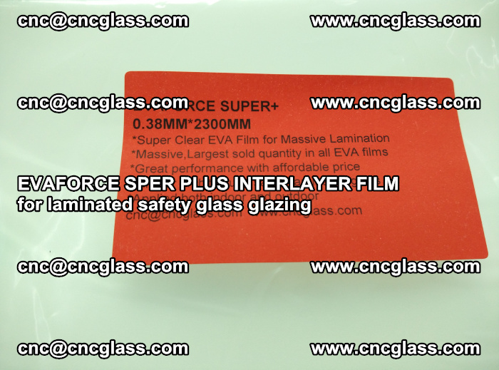 EVAFORCE SPER PLUS INTERLAYER FILM for laminated safety glass glazing (52)