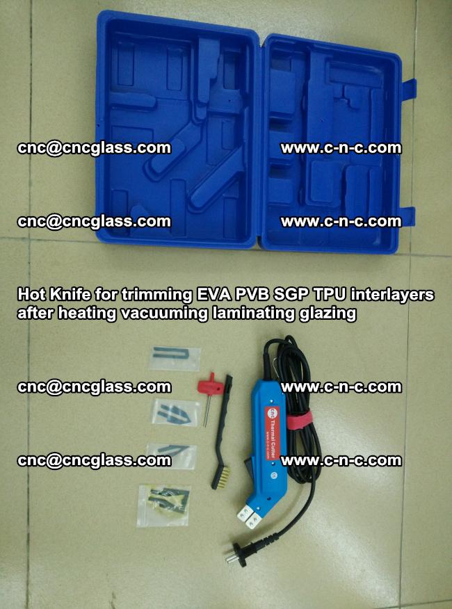 Hot Knife for trimming EVA PVB SGP TPU interlayers after heating vacuuming laminating (11)