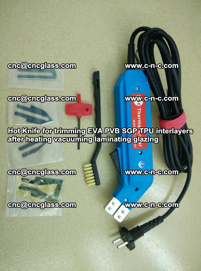 Hot Knife for trimming EVA PVB SGP TPU interlayers after heating vacuuming laminating (29)