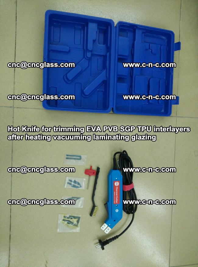 Hot Knife for trimming EVA PVB SGP TPU interlayers after heating vacuuming laminating (8)