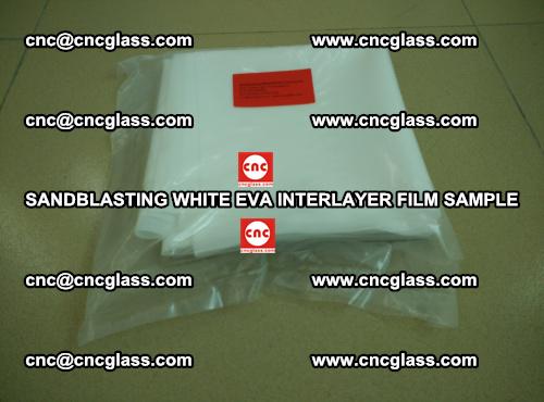 Sandblasting White EVA INTERLAYER FILM sample, EVAVISION (10)