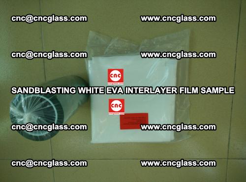 Sandblasting White EVA INTERLAYER FILM sample, EVAVISION (45)