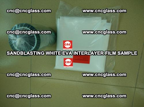 Sandblasting White EVA INTERLAYER FILM sample, EVAVISION (50)