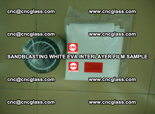 Sandblasting White EVA INTERLAYER FILM sample, EVAVISION (56)