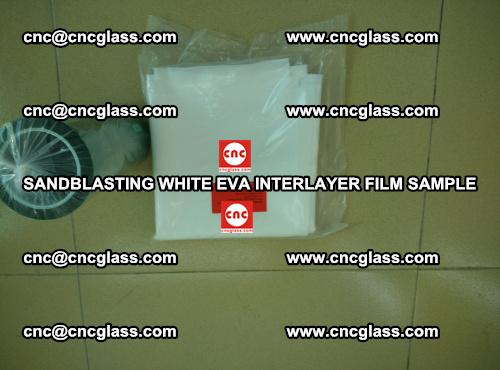 Sandblasting White EVA INTERLAYER FILM sample, EVAVISION (66)