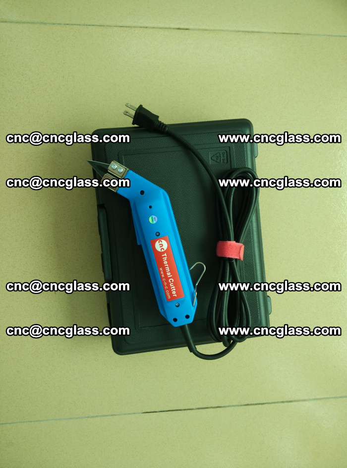 Hot knife trimmer for laminated glass edges cleaning (10)