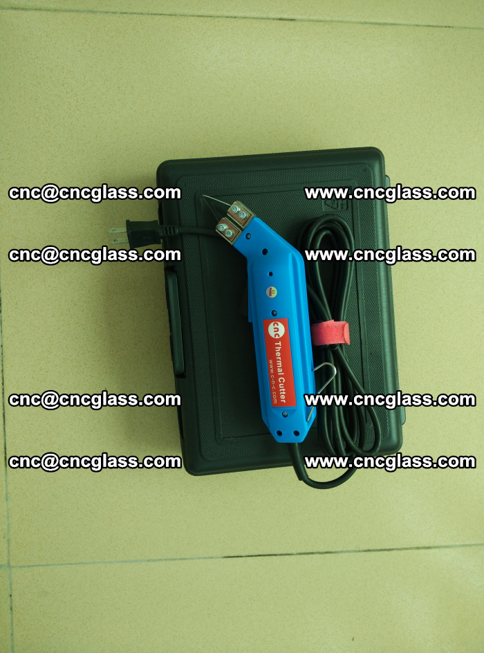 Hot knife trimmer for laminated glass edges cleaning (2)