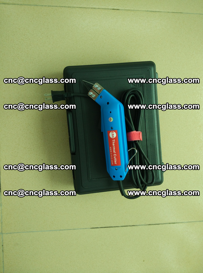 Hot knife trimmer for laminated glass edges cleaning (3)