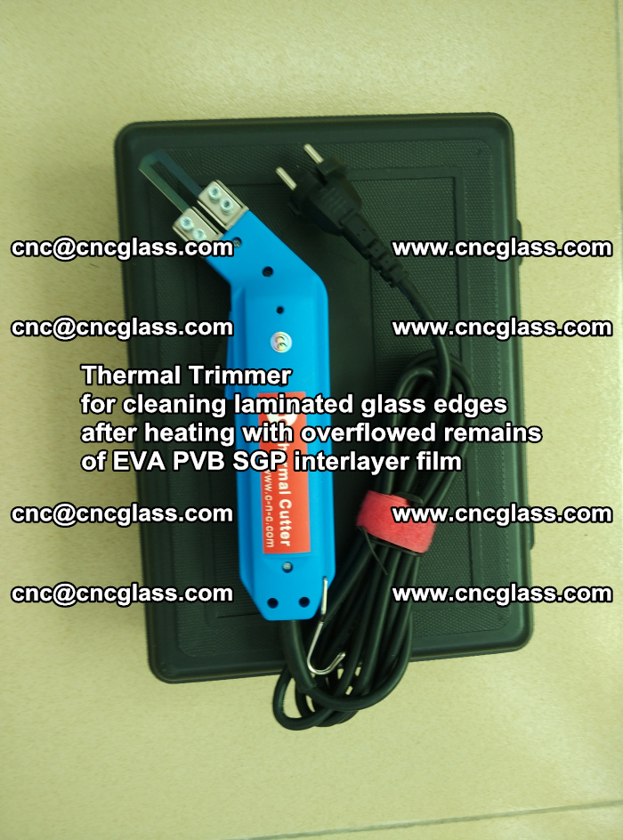 Thermal Trimmer for cleaning laminated glass edges (12)