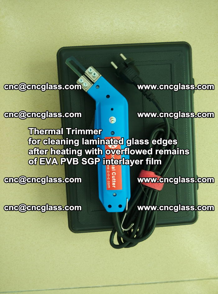 Thermal Trimmer for cleaning laminated glass edges (13)