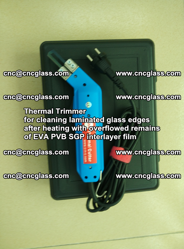 Thermal Trimmer for cleaning laminated glass edges (14)