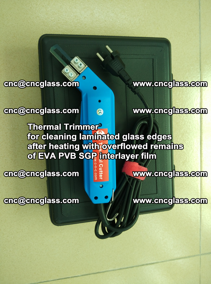 Thermal Trimmer for cleaning laminated glass edges (16)