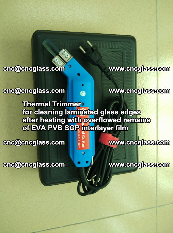 Thermal Trimmer for cleaning laminated glass edges (18)