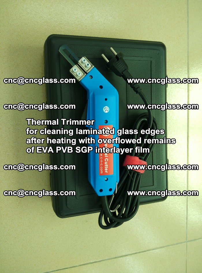 Thermal Trimmer for cleaning laminated glass edges (19)