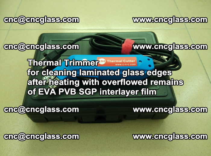 Thermal Trimmer for cleaning laminated glass edges (21)