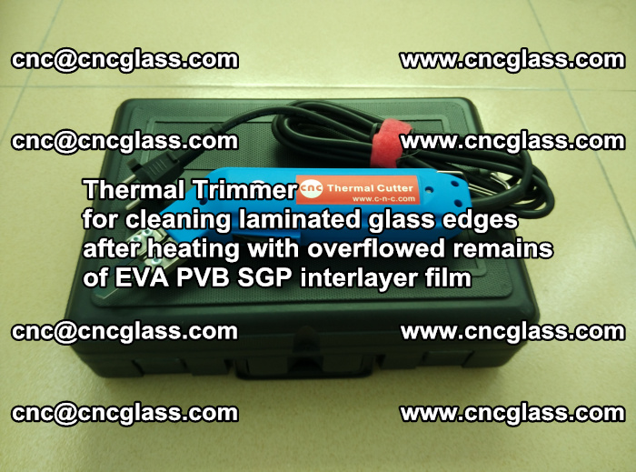 Thermal Trimmer for cleaning laminated glass edges (22)
