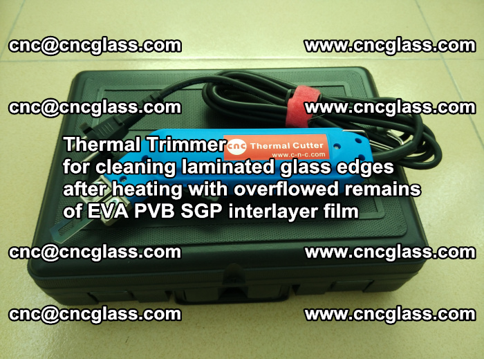 Thermal Trimmer for cleaning laminated glass edges (23)
