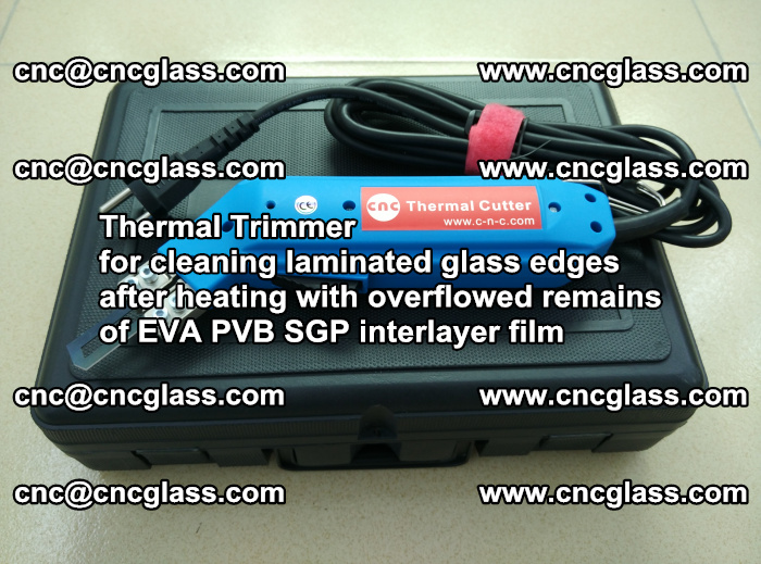 Thermal Trimmer for cleaning laminated glass edges (24)
