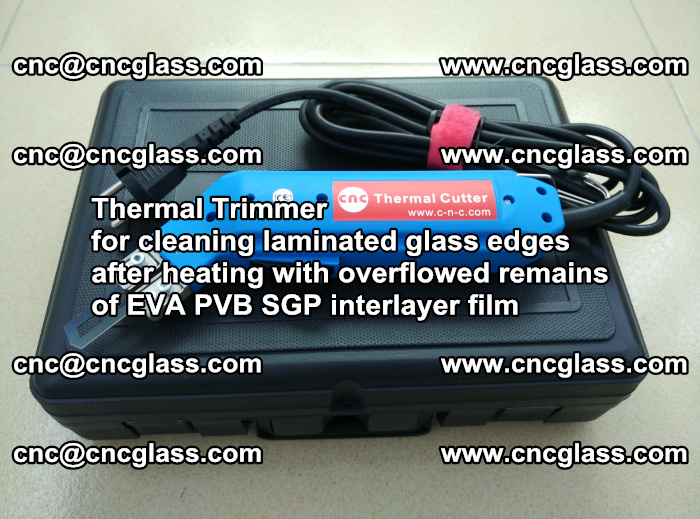 Thermal Trimmer for cleaning laminated glass edges (25)