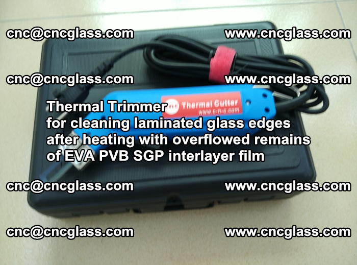 Thermal Trimmer for cleaning laminated glass edges (27)