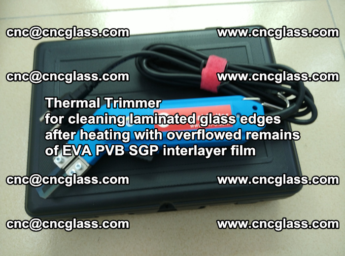 Thermal Trimmer for cleaning laminated glass edges (28)