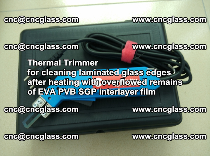 Thermal Trimmer for cleaning laminated glass edges (29)