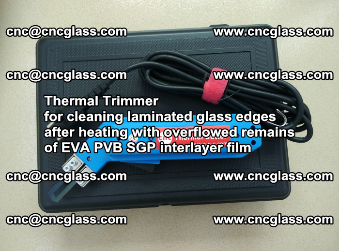 Thermal Trimmer for cleaning laminated glass edges (33)