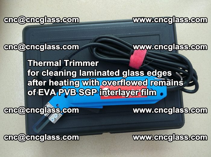 Thermal Trimmer for cleaning laminated glass edges (34)