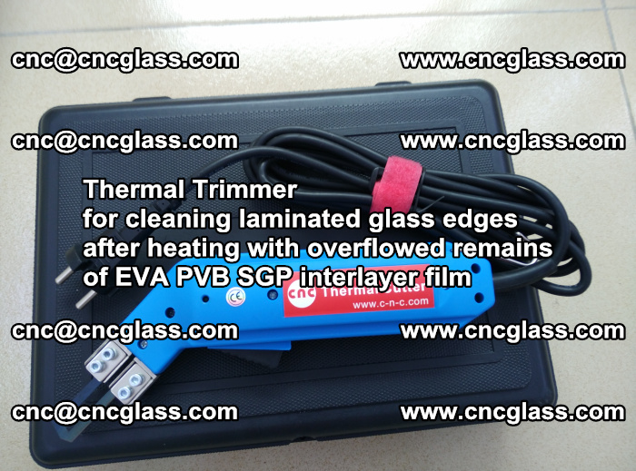 Thermal Trimmer for cleaning laminated glass edges (35)
