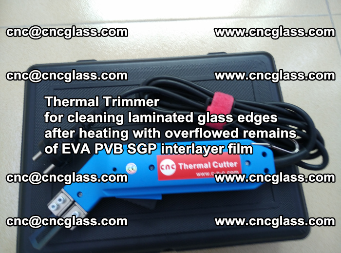 Thermal Trimmer for cleaning laminated glass edges (36)