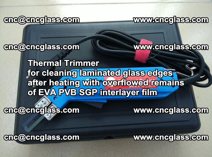 Thermal Trimmer for cleaning laminated glass edges (38)