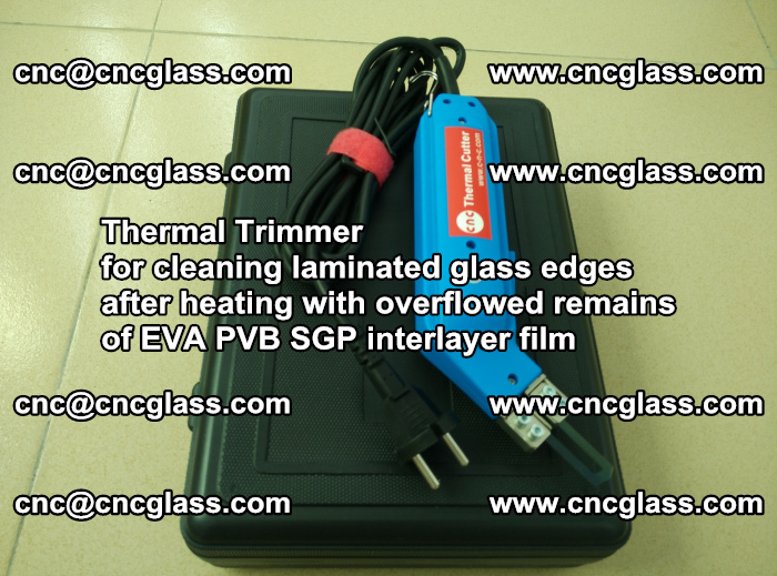 Thermal Trimmer for cleaning laminated glass edges (39)
