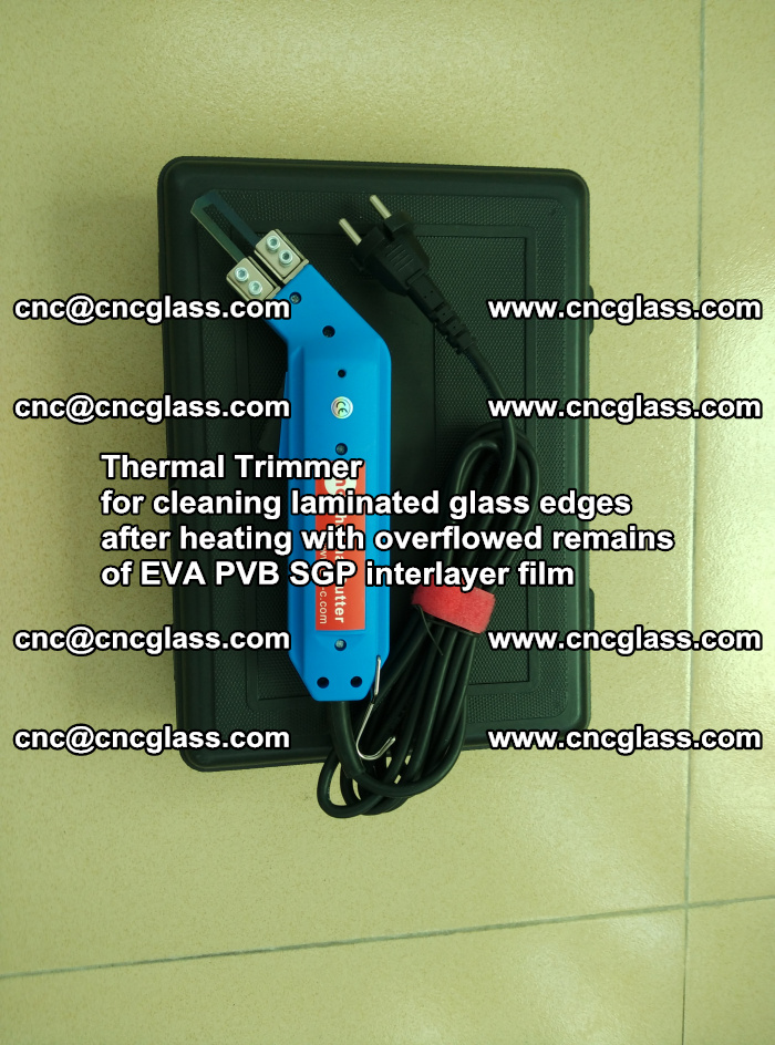 Thermal Trimmer for cleaning laminated glass edges (5)