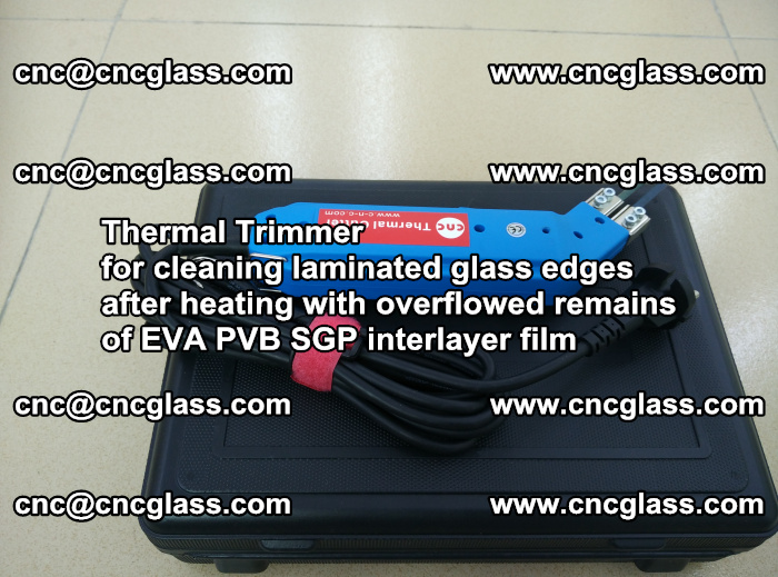 Thermal Trimmer for cleaning laminated glass edges (51)