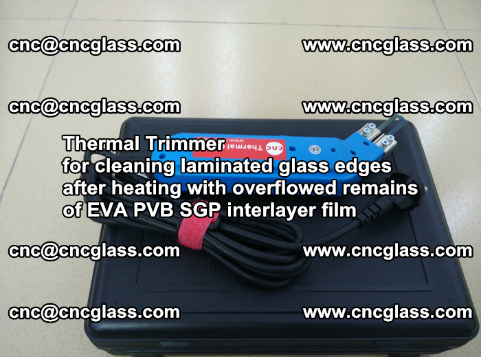 Thermal Trimmer for cleaning laminated glass edges (52)