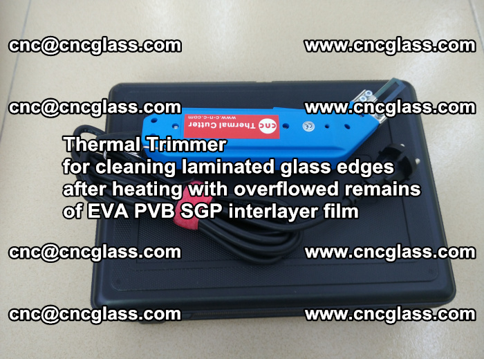 Thermal Trimmer for cleaning laminated glass edges (54)