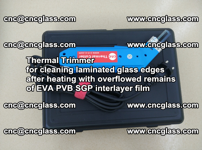 Thermal Trimmer for cleaning laminated glass edges (57)
