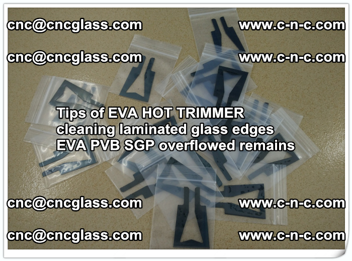 Tips of EVA HOT TRIMMER cleaning laminated glass edges  (35)