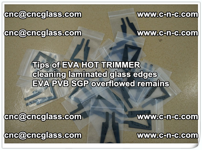 Tips of EVA HOT TRIMMER cleaning laminated glass edges  (36)