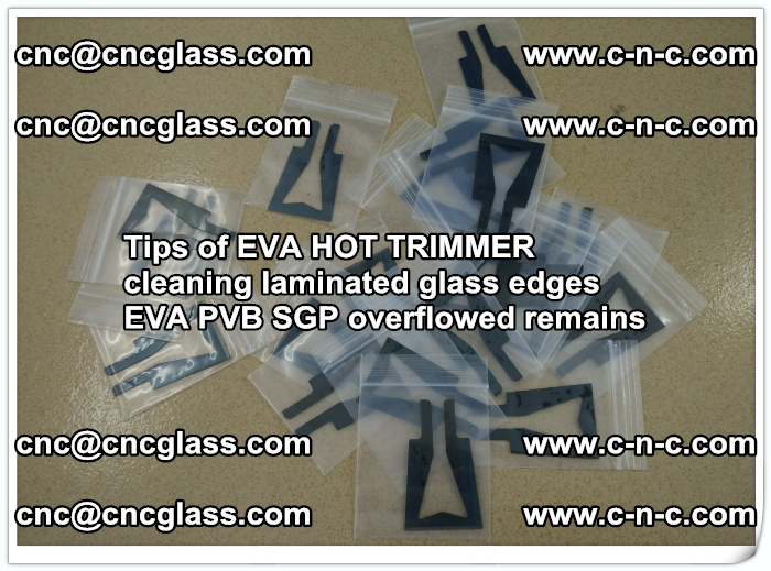 Tips of EVA HOT TRIMMER cleaning laminated glass edges  (38)