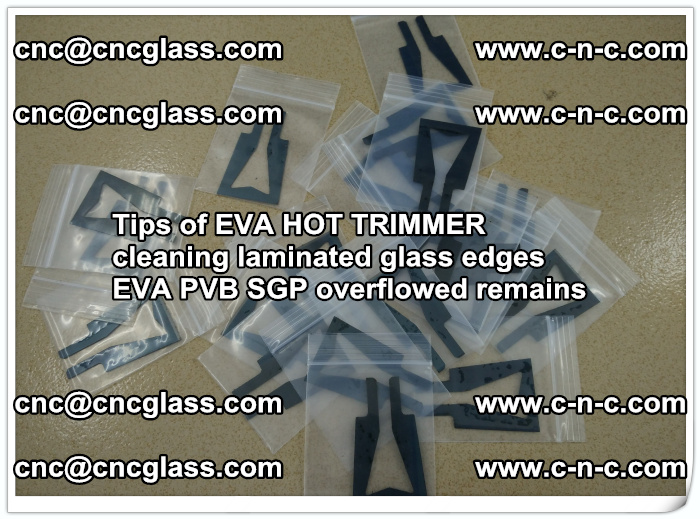 Tips of EVA HOT TRIMMER cleaning laminated glass edges  (41)