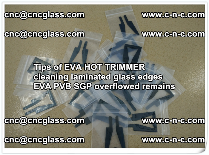 Tips of EVA HOT TRIMMER cleaning laminated glass edges  (42)