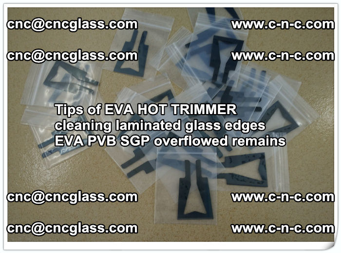 Tips of EVA HOT TRIMMER cleaning laminated glass edges  (44)