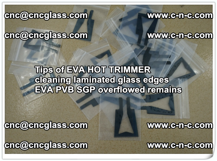 Tips of EVA HOT TRIMMER cleaning laminated glass edges  (45)