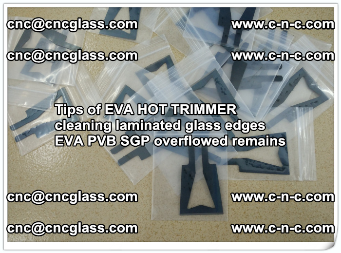 Tips of EVA HOT TRIMMER cleaning laminated glass edges  (46)