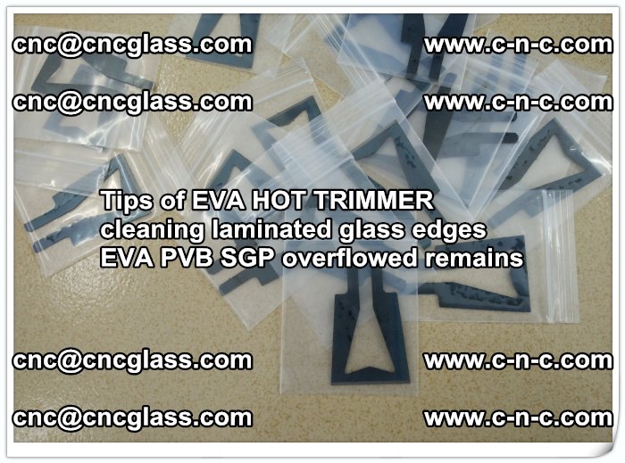 Tips of EVA HOT TRIMMER cleaning laminated glass edges  (47)