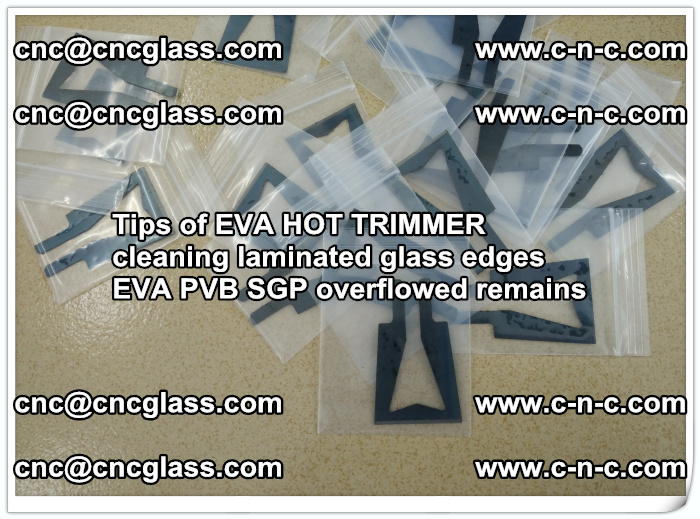 Tips of EVA HOT TRIMMER cleaning laminated glass edges  (48)